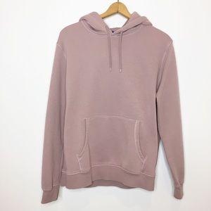 Divided hoodie sweatshirt mauve dusty pink L large
